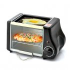 Mini electric toaster oven with a inside volume of 1 6 liter  handy frying tray on top and 220 Watt power