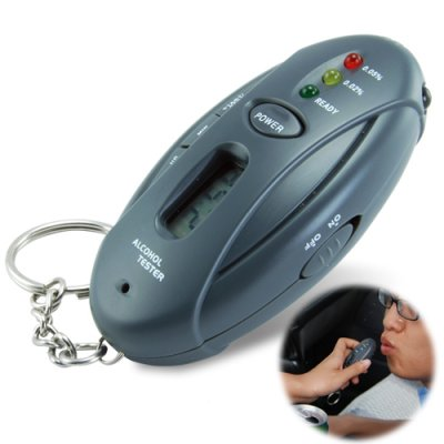 Keychain Breathalyzer with flashlight