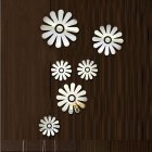 Mirror Surface Wall Sticker 3D Acrylic Flower Shape Decal for Home Decoration 40 * 60cm
