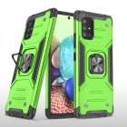 Mobile Case with Bracket TPU PC for Samsung A71 5G Anti-drop All-inclusive PVC Bag green