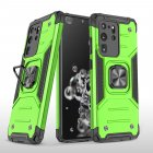 Mobile Case with Bracket for Samsung S20 Ultra Anti-drop All-inclusive  PVC bag green