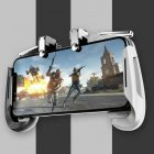 Mobile Gamepad Game Controller Trigger Aim Button L1R1 Shooter Joystick for PUBG Black and White