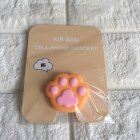 Mobile Phone Balloon Bracket Retractable Cartoon Silicone Cute Grip Cellphone Stand Orange cat claw