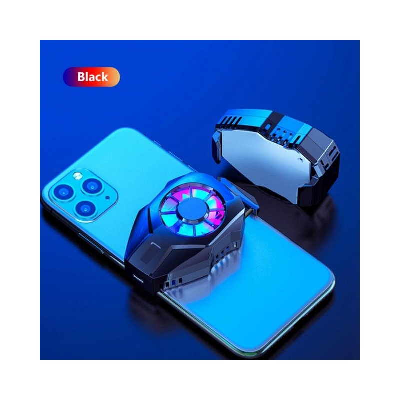 Mobile Phone Cooling Fan Gamepad Holder Bracket Fan Radiator USB Charging For IPhone Huawei Xiaomi Tablet  black