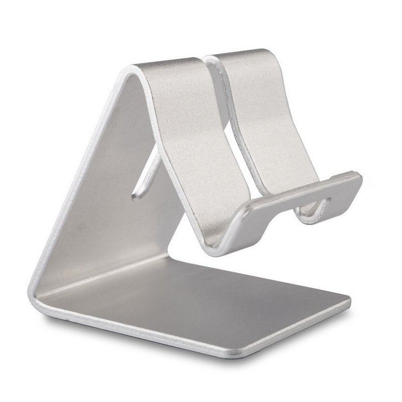 Mobile Phone Holder Stand Aluminium Alloy Metal Tablet Desk Holders Cellphone Stands  Silver grey