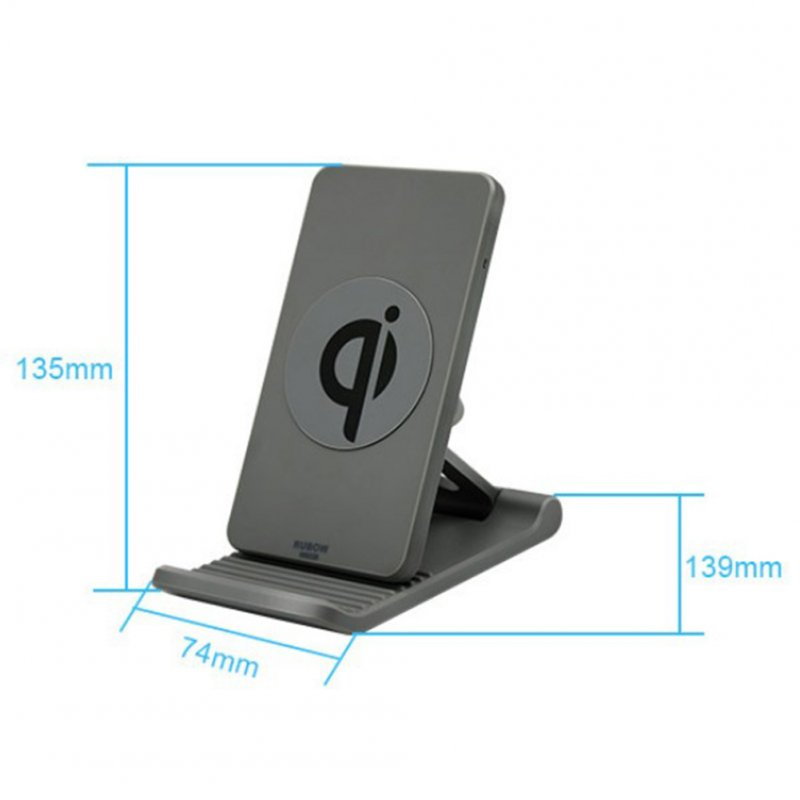 Mobile Phone Holder Wireless Charger Adjustable Mobile Phobe Bracket Vertical wireless charging Suitable for Apple Samsung Gray