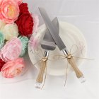 Wedding Cake Knife and Server w Love Message
