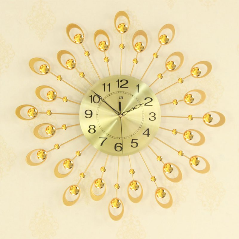 Modern Mute Wall Clock, Decorative Crystal 3D Large Silent Clocks, Diameter 54cm/21