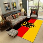 Modern National Flat Printing Carpet Mat for Living room Bedroom Bedside Yellow red black flag_80*120cm