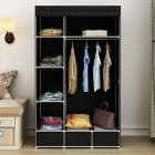 Modern Non-woven Cloth Wardrobe Baby Storage Cabinet with Drawer Bedroom Furniture black