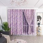 Modern Printing Shading Curtains for Living Room Bedroom Kitchen Window Decor Purple lantern bubble white silk shading curtain_1m wide x 2.5m high punch