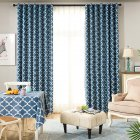 Modern Simple Window Curtain Ellipse Printing Shading for Living Room Bedroom  blue_200cm*270cm