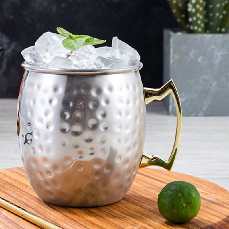 MoscowMule Cup Stainless Steel Mug with Copper-plated Surface for Cocktail Beer