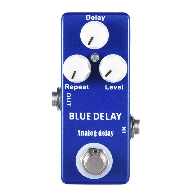 Mosky Deep Blue Delay Mini Guitar Effect Pedal True Bypass blue