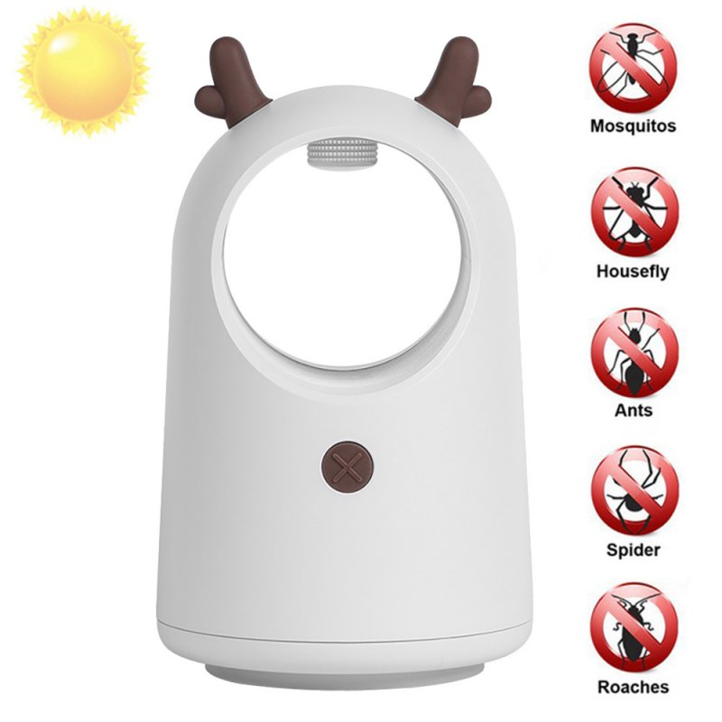 Mosquito Killer Lamp Mute USB Mosquito Repellent Lamp for Home Indoor White deer_USB interface