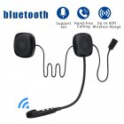 Moto Helmet Headset  bluetooth Wireless Anti-interference Helmet Headset Hands Free bluetooth Intercom for Motorcycle black