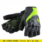 Moto Motocross Gloves Men Women Off-Road Motorbike Half Finger Touch Screen Gloves Green XL