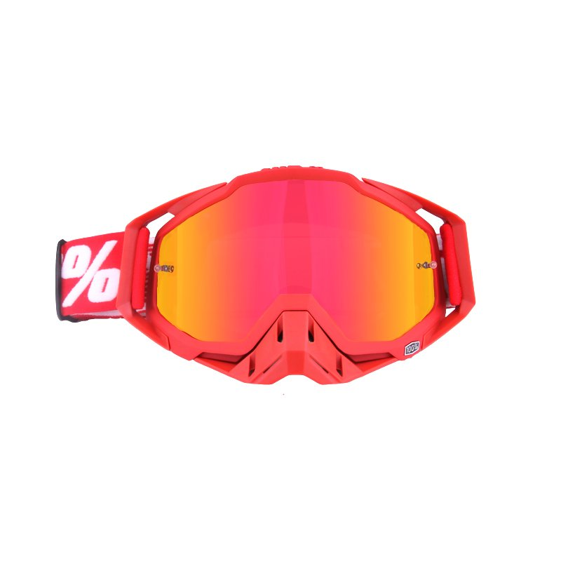Motocross Goggles ATV Casque Motorcycle Glasses Racing Moto Bike Cycling CS Gafas Sunglasses All red + red