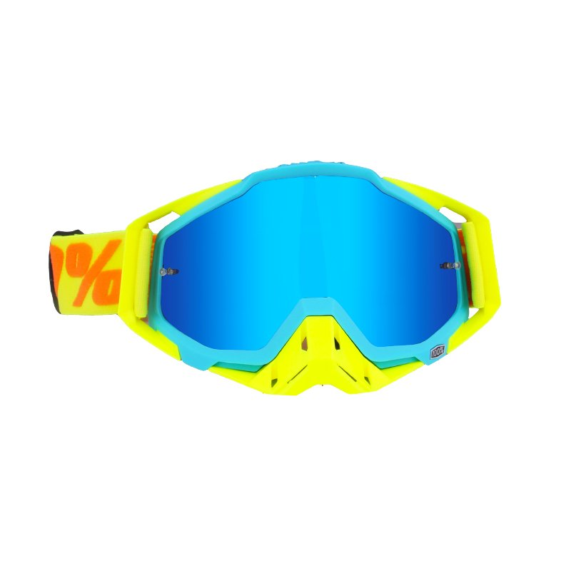 Motocross Goggles ATV Casque Motorcycle Glasses Racing Moto Bike Cycling CS Gafas Sunglasses Yellow blue + yellow