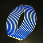 Motorcycle 18 - inch Reflective Wheel Sticker Wheel Ring Sticker Hub Tire Reflector Sticker Decoration blue