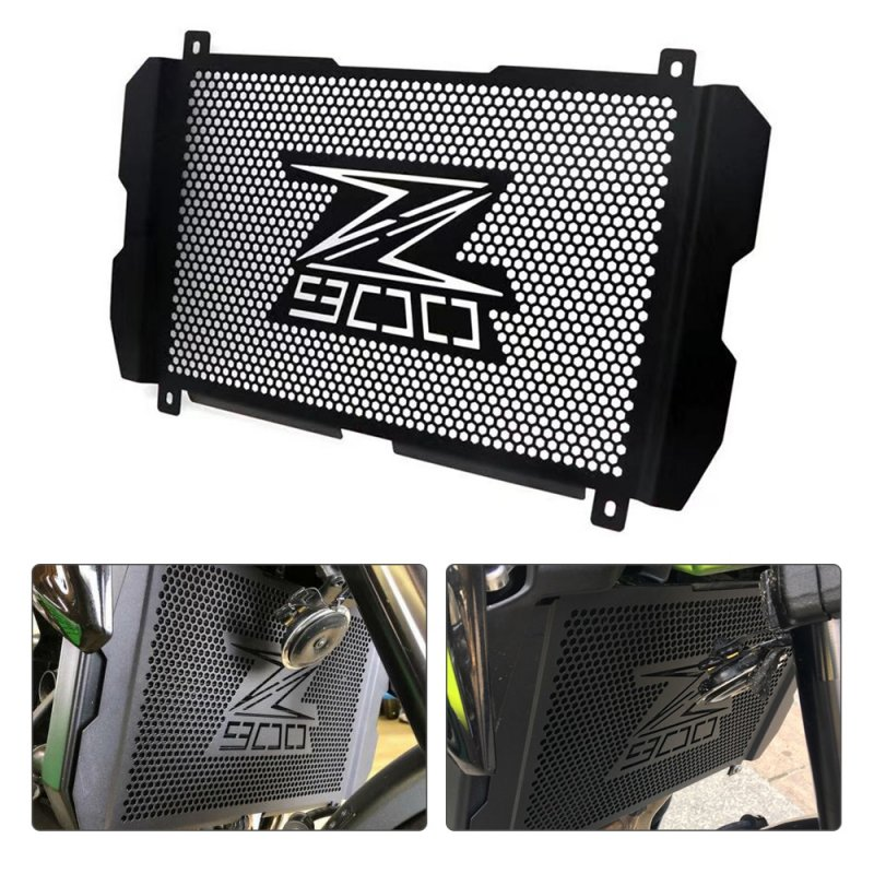 Motorcycle Accessories Radiator Grille Cover Guard Stainless Steel Protection Protetor For Kawasaki Z900 2017 2018 2019 black