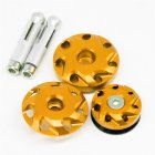Motorcycle Aluminum Fairing Bolts Frame Hole Caps Screws For Kawasaki Z1000 10-16 Z1000SX 11-15 Gold