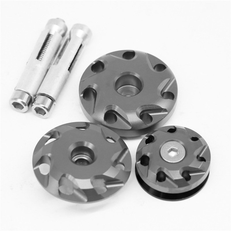 Motorcycle Aluminum Fairing Bolts Frame Hole Caps Screws For Kawasaki Z1000 10-16 Z1000SX 11-15 gray