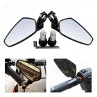 Motorcycle Bar End Mirrors Rear View CNC for Honda GROM MSX125 CB500F / Kawasaki Z125 pro Z650 Z750 Z800 Z900 ER6N ER6F
