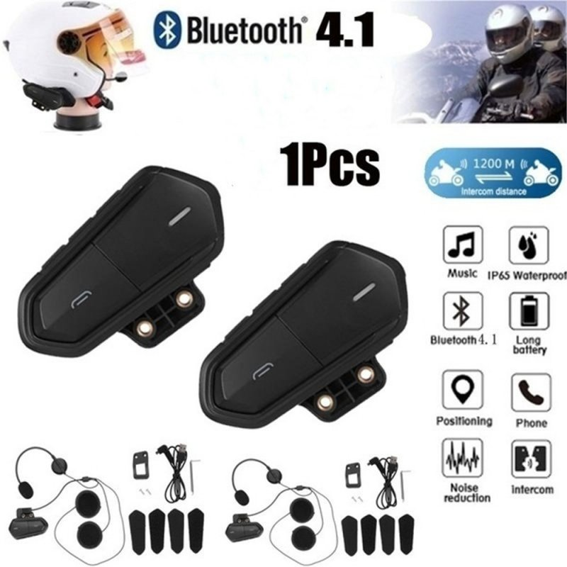 Motorcycle Bluetooth Helmet Headset Fm Radio High Fidelity Low Energy Headset Bluetooth Headset 1PC
