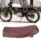 Motorcycle Brown Hump Universal Seat Cafe Racer Vintage Saddle For Honda for Yamaha Flat diamond brown