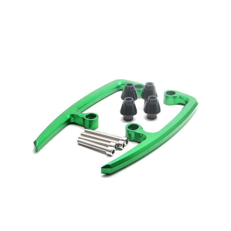Motorcycle CNC Aluminum Rear Grab Bars Seat Pillion Passenger Rail Handle Armrest Arm Rests for Kawasaki Z650 2017 2018 green