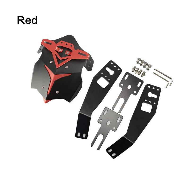 Motorcycle CNC Aluminum Rear Splash Guard Motorbike Mudguard Case for HONDA MSX125 red