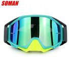 Motorcycle Cross-country Goggles Wide Vision Goggles for Mountaineering Compatible Myopic Glasses