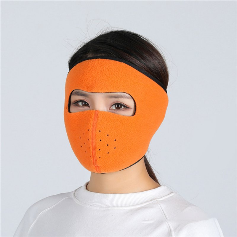 Motorcycle Cycling Ski Cold Winter Cold-proof Ear Warmer Sports Half Face Mask Orange_free size