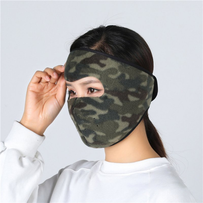 Motorcycle Cycling Ski Cold Winter Cold-proof Ear Warmer Sports Half Face Mask Camouflage_free size