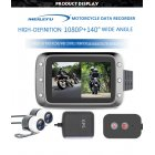 Motorcycle DVR Dash Cam 1080P Full HD Front Rear View Waterproof Motorcycle Camera GPS Logger Recorder Box