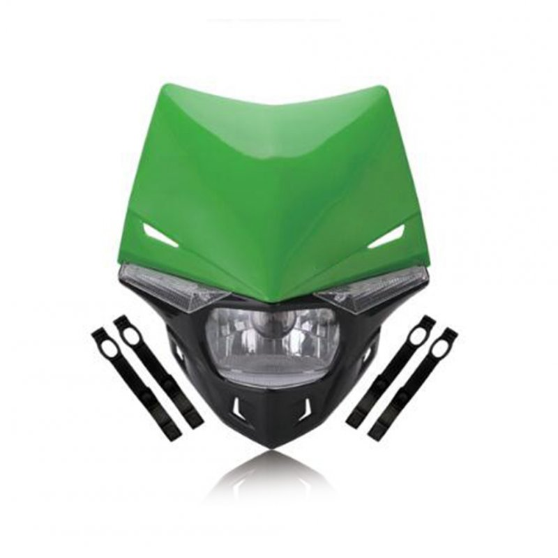 Motorcycle Dirt Bike Headlight Assembly Ghost Face Fairing Lamp KTM EXC SX SXF EXC MX SMR Universal Headlamp Assembly green