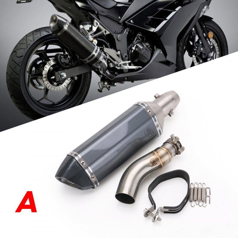 Motorcycle Exhaust Pipe Stainless Steel 41/37mm Exhaust Pipe For Kawasaki Ninja 300 13-15 A