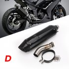 Motorcycle Exhaust Pipe Stainless Steel 41/37mm Exhaust Pipe For Kawasaki Ninja 300 13-15 D