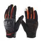 Motorcycle Gloves Anti-skid Shockproof Cycling Motocross Safet Gloves Gants Orange_L