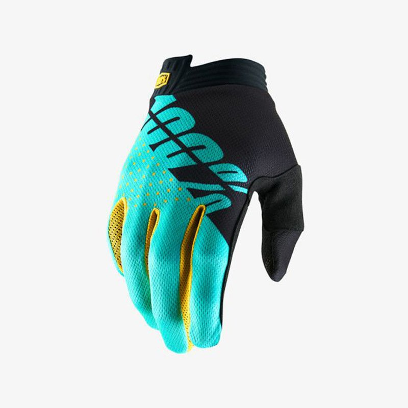 Motorcycle Gloves Mountain Bike Racing Glove Locomotive Delicate Motorsport MTB Bike Motorcycle Gloves Fluorescent blue_L