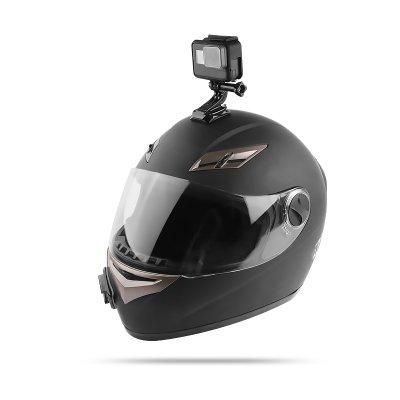 Motorcycle Helmet Chin Bracket Turntable Button Mount Action Cam Accessories Gopro Hero6 5 4 Black