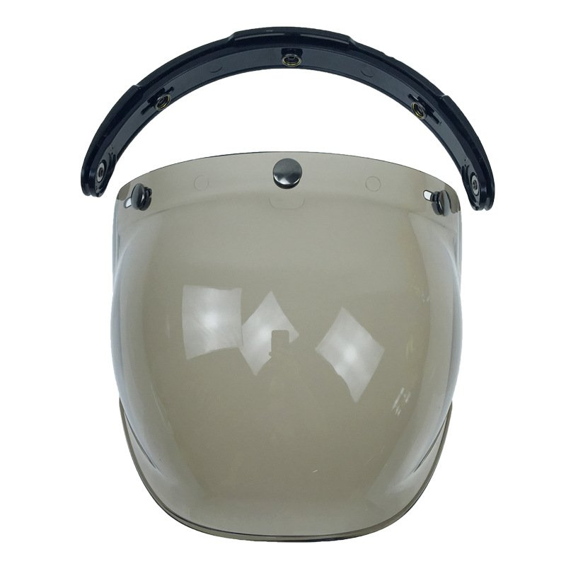 Motorcycle Helmet Glass Flip Up Helmet Bubble Shield Helmet Lens Light tea