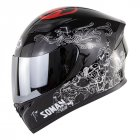 Motorcycle Helmet Men Full Face Helmet Moto Riding ABS Material Motocross Helmet Silver_M