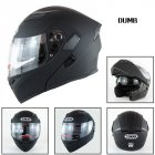 Motorcycle Helmet Unisex Double Lens Uncovered Helmet Off-road Safety Helmet Matte black_M