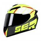 Motorcycle Helmet cool Modular Moto Helmet With Inner Sun Visor Safety Double Lens Racing Full Face the Helmet Moto Helmet Knight Yellow SER_XL