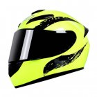 Motorcycle Helmet cool Modular Moto Helmet With Inner Sun Visor Safety Double Lens Racing Full Face the Helmet Moto Helmet Cavaliers Yellow Pistons_XXL