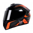 Motorcycle Helmet cool Modular Moto Helmet With Inner Sun Visor Safety Double Lens Racing Full Face the Helmet Moto Helmet Orange Arrow_XXXL