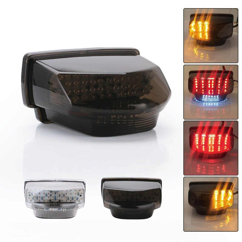 Motorcycle Led Taillights Turn Signal Lamp Stop Lamp For 7-12 years Honda CBR600RR R5 black