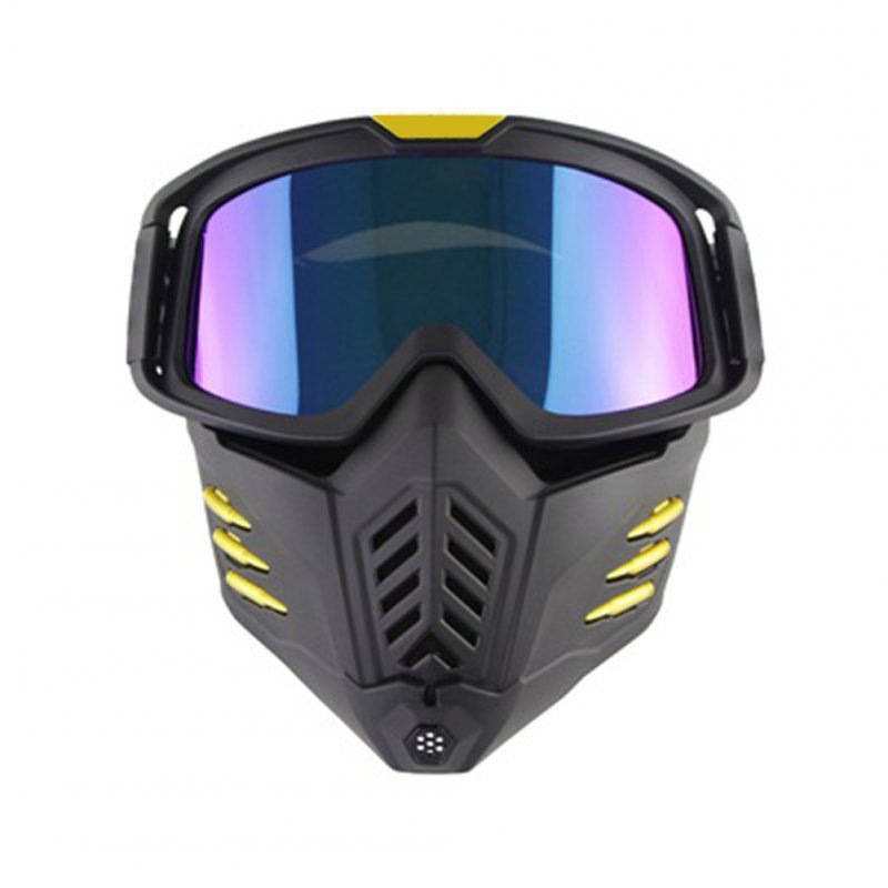 Motorcycle Mask Men Women Ski Snowboard Goggles Winter Off-road Riding Glasses Matte black film
